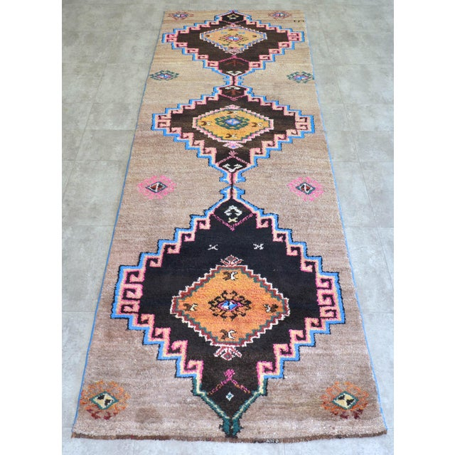 """Dimension: 41.7"""" x 136"""" or 3 ft 6 in x 11 ft 4 in Excluding fringe Material :The original rug is made of wool on wool...."""