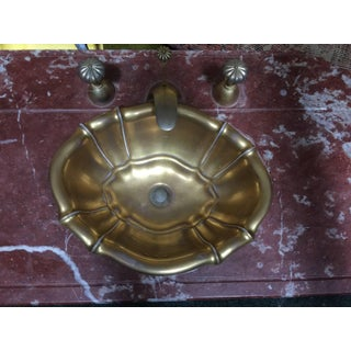 1970s Vintage Sherle Wagner Rouge Marble Powder Room Sink Top Preview