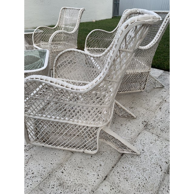 Cream Russell Woodard Glider Loveseat & Glider Chairs Set - 5 Pieces For Sale - Image 8 of 13