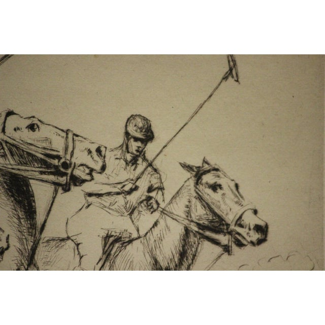 Four Polo Players Etching by Nat Lowell (1880-1956) For Sale In New York - Image 6 of 8