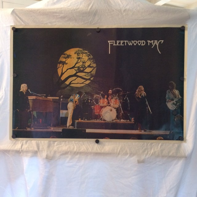 1977 Rare German Fleetwood Mac concert tour poster is in excellent condition with thumbtack holes in the white border...