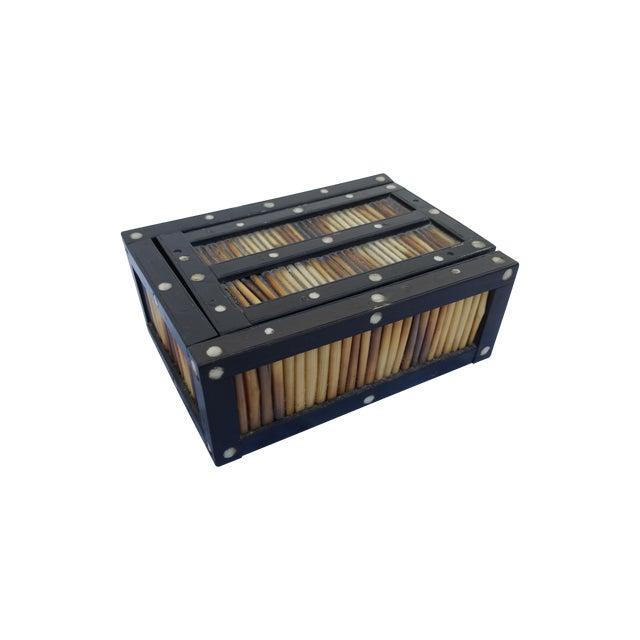 Porcupine Quill Box Circa 1900 For Sale
