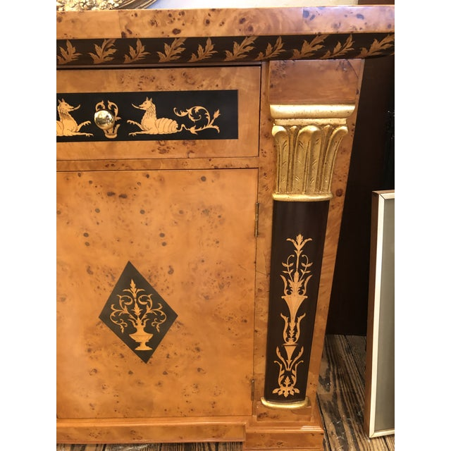 1990s Biedermeier Style Empire Sideboard Credenza Cabinet by Francesco Molon For Sale - Image 5 of 12