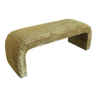 """Waterfall Art Deco Style Bench - """"Velvet"""" For Sale"""
