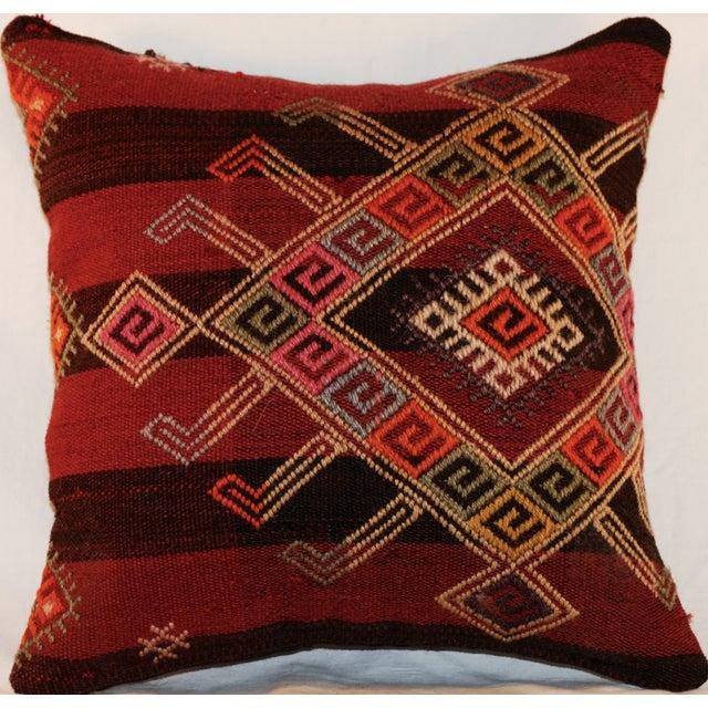 Vintage Handmade Wool Decorative Boho Pillow - Image 3 of 7