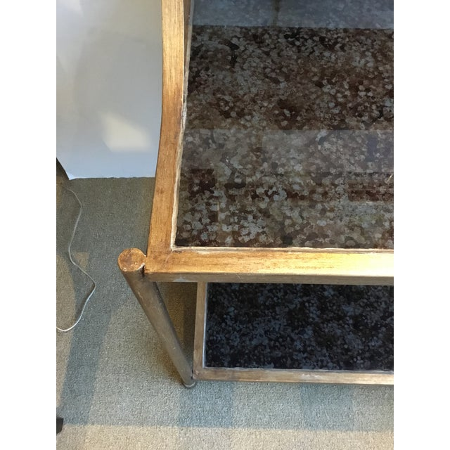 Modern Reverse Painted Glass Bar Table For Sale In Atlanta - Image 6 of 7