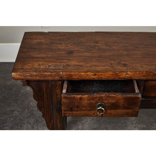 18th C. Chinese Ming Style Elm Sideboard For Sale - Image 10 of 11