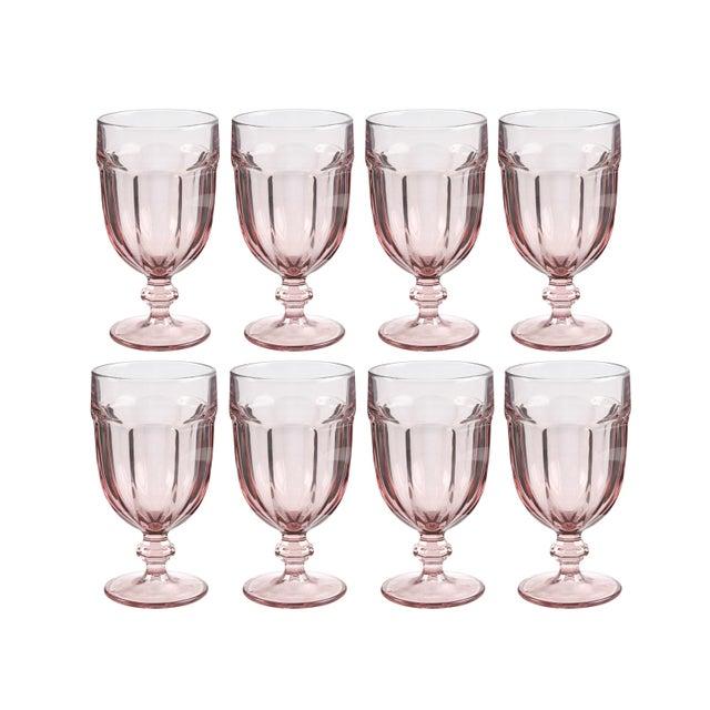 Libbey Glass Co. Vintage Libbey Duratuff Goblets Pink Stemmed Glassware Beverage Glasses - Set of 8 For Sale - Image 4 of 4