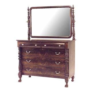 American Empire Mahogany Dresser For Sale