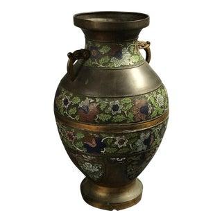 Bronze & Enamel Chinese Urn