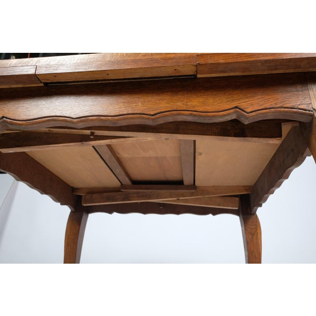 Mid 20th Century Louis Philippe-Style Square Parque Extendable Table For Sale - Image 5 of 12