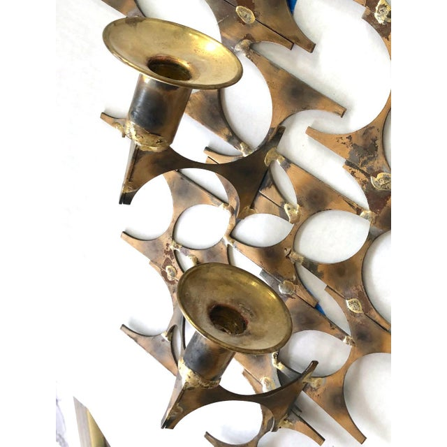 Modern Wall Sconce Sculpture by Mark Weinstein For Sale - Image 9 of 12