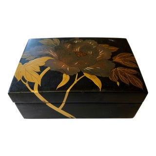 Japanese Floral Box For Sale