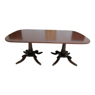1940's Antique Mahogany French Empire Banquet Dining Table For Sale