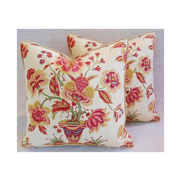 Custom Designer Lee Jofa Pillows - A Pair - Image 5 of 8