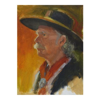Cowboy Portrait Painting