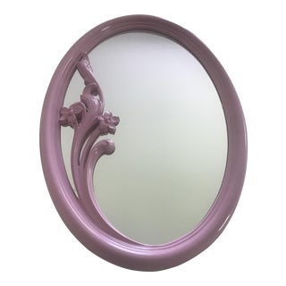 Pink Lacquered Lily Mirror