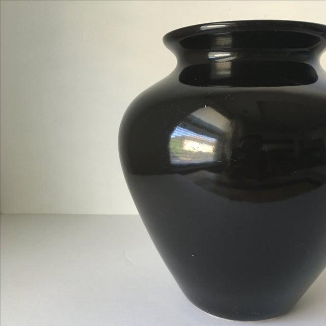Black Ceramic Vase - Image 4 of 4