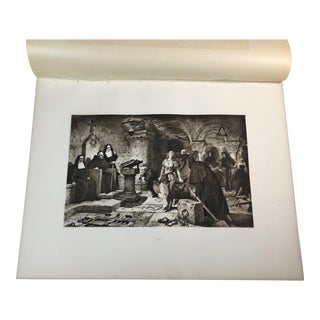 1892 Antique Scene From a Sir Walter Scott Poem Photogravure Print For Sale