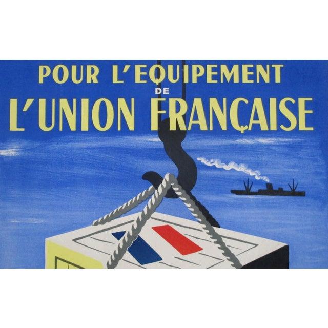 1949 Original French Exhibition Poster - Pour L'équipement De l'Union Française - Villemot For Sale - Image 4 of 6