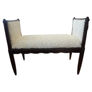Vintage French Art Deco Bench-Dominique Inspired For Sale