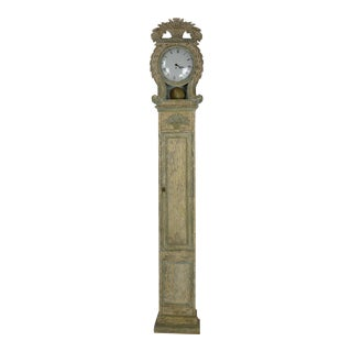 1920s Gustavian Style Grandfather Clock For Sale