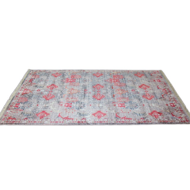 Picasso Soft Turkish Red Rug - 5′ × 7′7″ - Image 5 of 5