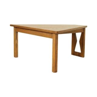 Brandt Ranch Oak Triangular Side Table For Sale
