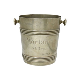 Rare 1940s Christofle Morlant Bistro Champagne Bucket For Sale