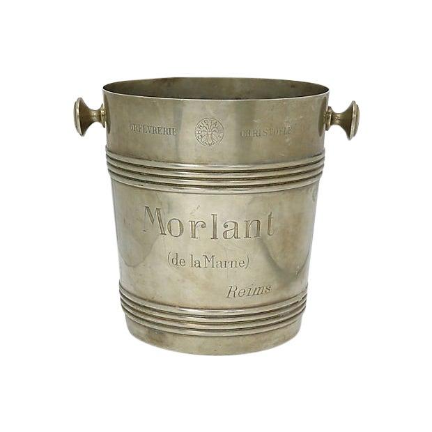 Rare 1940s Christofle Morlant Bistro Champagne Bucket For Sale