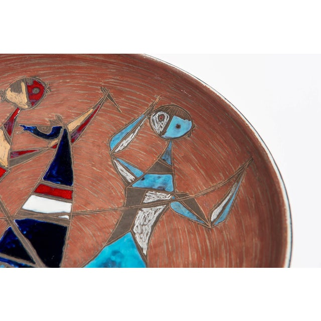 Large Wall-Plaque / Charger by Marcello Fantoni For Sale In Los Angeles - Image 6 of 8
