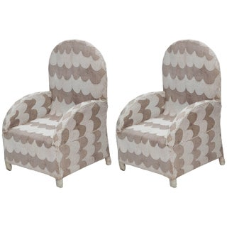 Pair of African Beaded Chairs For Sale