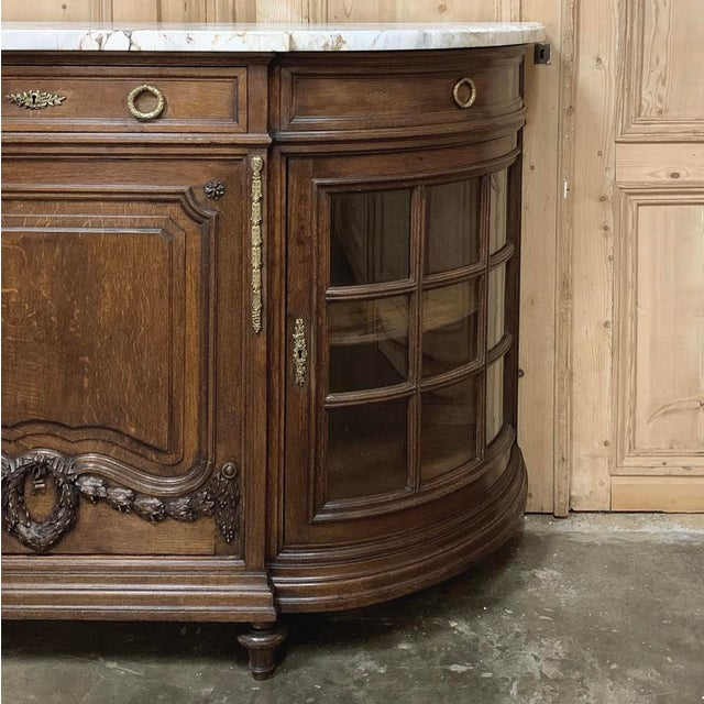 White 19th Century French Louis XVI Marble Top Display Buffet For Sale - Image 8 of 12