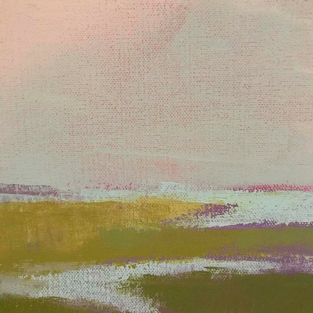 """2010s Carrie Megan """"Purple Haze"""" Abstract Landscape Oil & Cold Wax Painting For Sale - Image 5 of 6"""