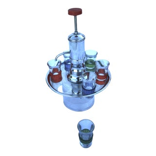 Pump Decanter With Shot Glasses