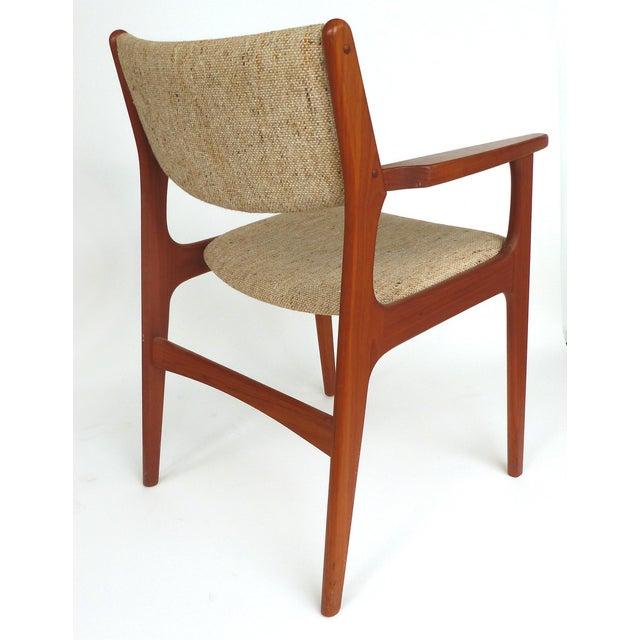 Scandinavian Modern Teak Armchairs - a Pair For Sale - Image 10 of 13