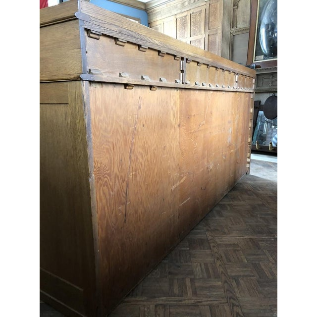 Antique Bankers File Cabinet Drawer Unit For Sale - Image 10 of 11