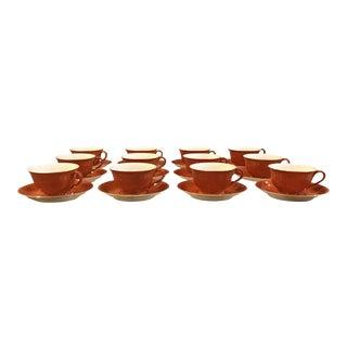 Vintage Noritake Teacups & Saucers - Set of 12 For Sale