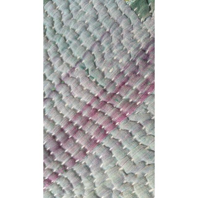 Bangladeshi Hand Sewn Vintage Quilt - Image 4 of 6