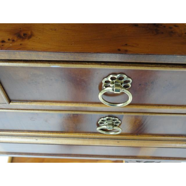 Brown Baker Furniture Small Entryway Console Table Cabinet For Sale - Image 8 of 13