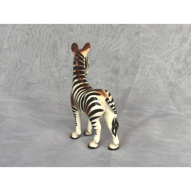 Ceramic Mid-Century Modern Fern Importation Ceramic Zebra Figurine For Sale - Image 7 of 12