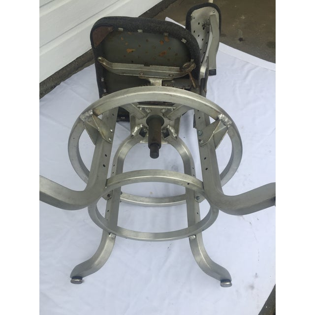 1960s Industrial Swivel Lab Stool For Sale - Image 4 of 10