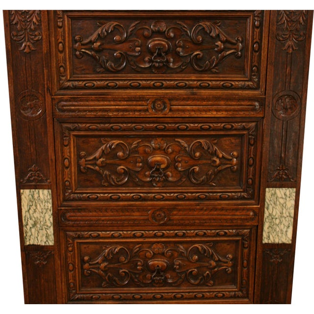 Antique French Renaissance-Style Chest of Drawers - Image 4 of 8
