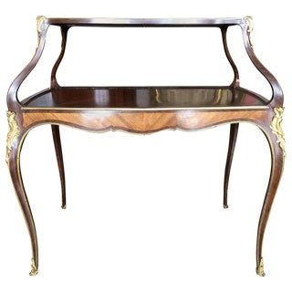 19th Century Louis XV Style Mounted Two-Tier Dessert Table For Sale