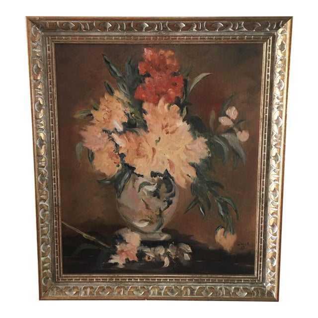 Floral Still Life Oil Painting - Image 1 of 8