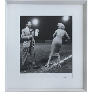 Marilyn Monroe Throws the First Pitch, Photographed by Frank Worth 28/195 W/Seal For Sale