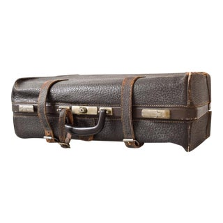 Antique 1920s All Leather Wardrobe Garment Suitcase For Sale