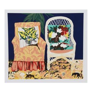 "Hunt Slonem, ""Chair Duet"", Pop Art Screenprint For Sale"
