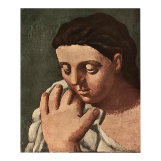 """1954 Pablo Picasso """"Head of a Woman"""", Period First Limited Italian Edition Lithograph For Sale"""