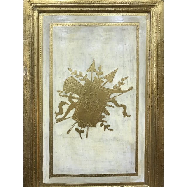 Mid 20th Century 20th Century Italian Giltwood Florentine Room Divided Screen Hollywood Regency For Sale - Image 5 of 13